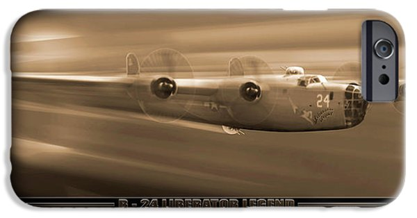 Warbird iPhone Cases - Liberator Legend iPhone Case by Mike McGlothlen