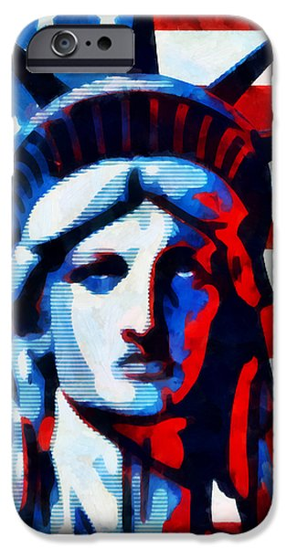 Patriots iPhone Cases - Liberty 2 iPhone Case by Angelina Vick