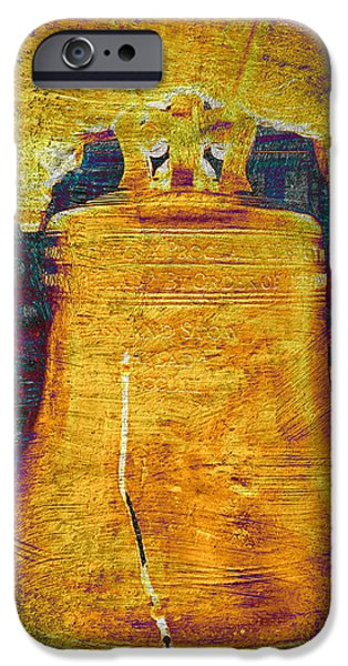 4th July Photographs iPhone Cases - Liberty Bell 2.1 iPhone Case by Stephen Stookey
