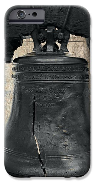 4th July Photographs iPhone Cases - Liberty Bell 2.2 iPhone Case by Stephen Stookey