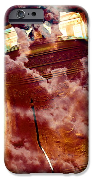 4th July Photographs iPhone Cases - Liberty Bell 3.1 iPhone Case by Stephen Stookey