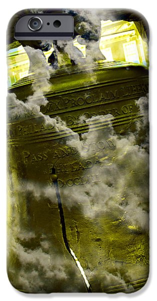 4th July Photographs iPhone Cases - Liberty Bell 3.2 iPhone Case by Stephen Stookey