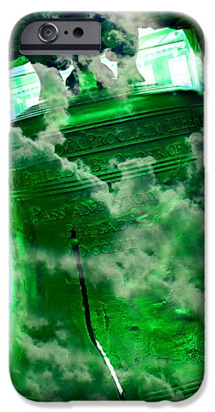 4th July iPhone Cases - Liberty Bell 3.3 iPhone Case by Stephen Stookey
