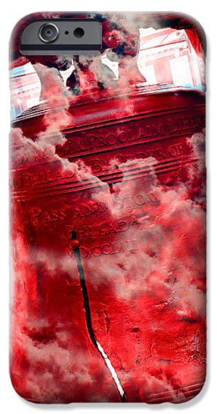 4th July Photographs iPhone Cases - Liberty Bell 3.5 iPhone Case by Stephen Stookey