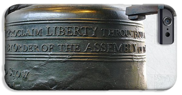 Tea Party iPhone Cases - Liberty Bell iPhone Case by Richard Reeve