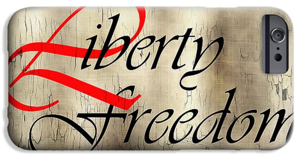 Constitution iPhone Cases - Liberty Freedom iPhone Case by Daniel Hagerman