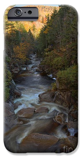 The Pool iPhone Cases - Liberty Gorge At Franconia Notch iPhone Case by Adam Jewell