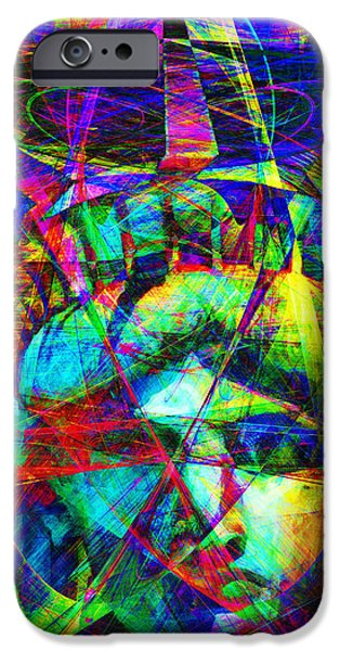 Fourth Of July iPhone Cases - Liberty Head Abstract 20130618 Long iPhone Case by Wingsdomain Art and Photography