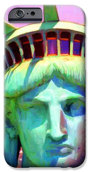 Liberty Head Painterly 20130618 Long iPhone Case by Wingsdomain Art and Photography