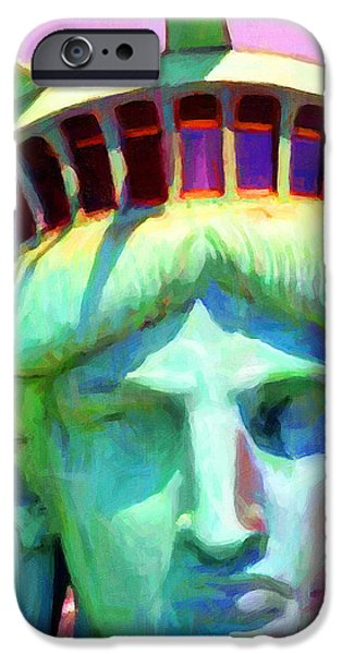 Liberty Head Painterly 20130618 Square iPhone Case by Wingsdomain Art and Photography