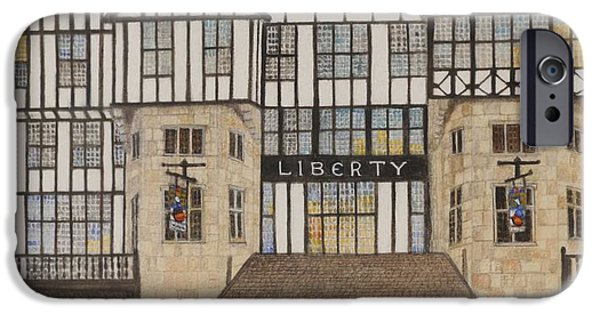 Liberty Photographs iPhone Cases - Liberty Ii, 1988 Watercolour On Paper iPhone Case by Gillian Lawson