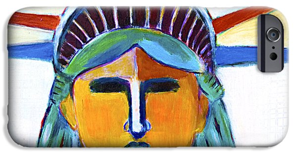 Freedom iPhone Cases - Liberty in colors iPhone Case by Habib Ayat