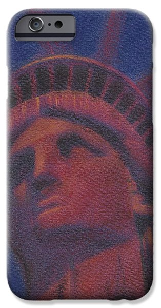 Liberty in Red iPhone Case by Stephen Cheek II
