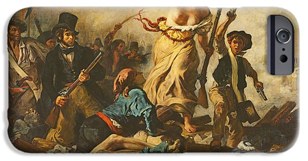 Liberation iPhone Cases - Liberty Leading The People, 28 July 1830, C.1830-31 Oil On Canvas For Detail See 95120 iPhone Case by Ferdinand Victor Eugene Delacroix