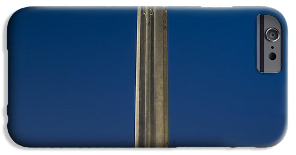 Ww1 iPhone Cases - Liberty Memorial at Dusk iPhone Case by Tim Mulina