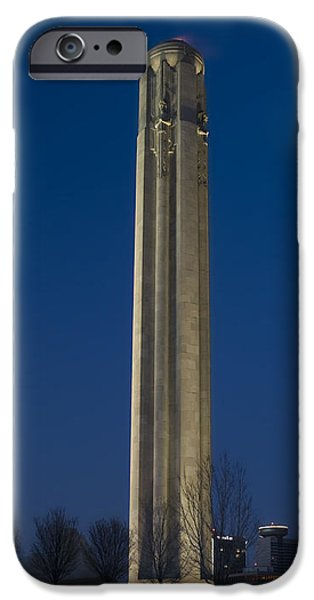 Liberty Memorial at Dusk iPhone Case by Tim Mulina