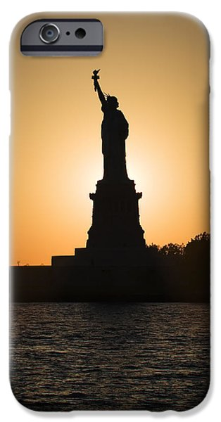 Dave iPhone Cases - Liberty Sunset iPhone Case by Dave Bowman