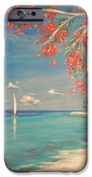 Beach Landscape Pastels iPhone Cases - Liberty iPhone Case by The Beach  Dreamer