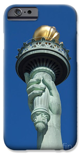 Fourth Of July iPhone Cases - Liberty Torch iPhone Case by Brian Jannsen