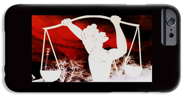 Signed Sculptures iPhone Cases - Libra iPhone Case by The Creative Minds Art and Photography