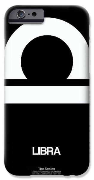 Aquarius iPhone Cases - Libra Zodiac Sign White iPhone Case by Naxart Studio