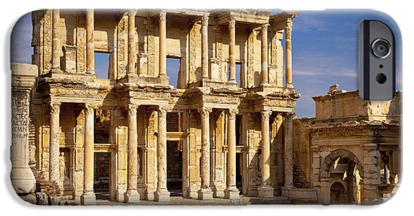 Ephesus iPhone Cases - Library at Ephesus iPhone Case by Brian Jannsen