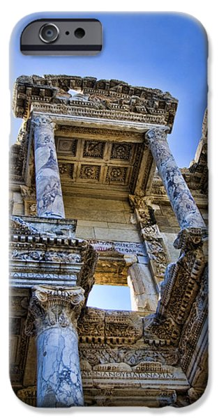 Ephesus iPhone Cases - Library of Celsus iPhone Case by David Smith