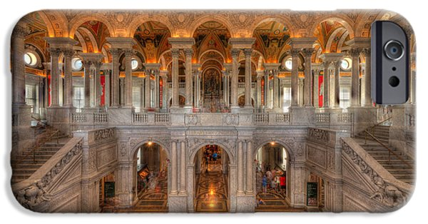 D.c. iPhone Cases - Library Of Congress iPhone Case by Steve Gadomski