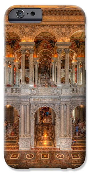 Library Of Congress iPhone Case by Steve Gadomski