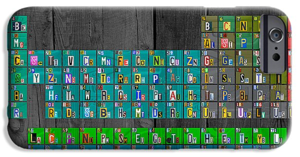 Artsy iPhone Cases - License Plate Art Recycled Periodic Table of the Elements by Design Turnpike iPhone Case by Design Turnpike