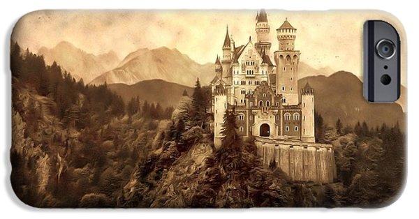 Comfortable Art iPhone Cases - Lichtenstein Castle iPhone Case by Dan Sproul