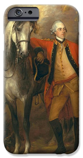 Horse iPhone Cases - Lieutenant General Edward Ligonier iPhone Case by Thomas Gainsborough