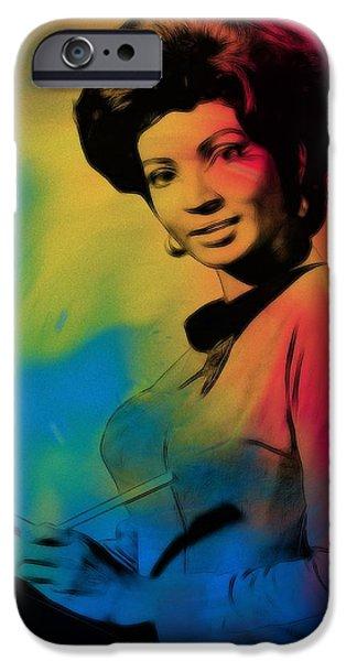 Lieutenant Uhura iPhone Case by Stefan Kuhn