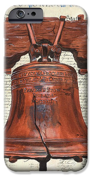 Font iPhone Cases - Life and Liberty iPhone Case by Debbie DeWitt