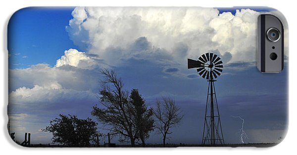 Storm iPhone Cases - Life Blood of the High Plains iPhone Case by Karen Slagle