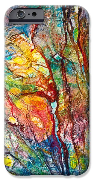 Organic Forms iPhone Cases - Life Colors iPhone Case by Patricia Allingham Carlson