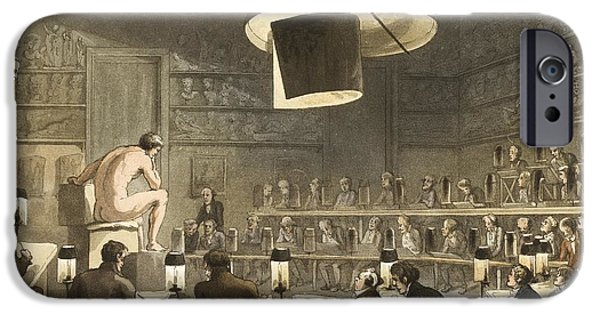 Practise iPhone Cases - Life Drawing Class, 1808 iPhone Case by British Library