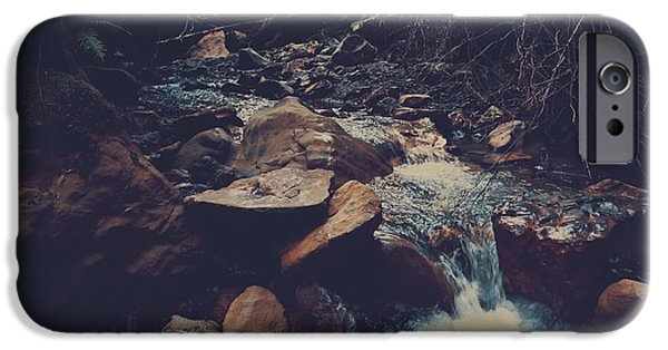 Water Flowing iPhone Cases - Life Flows On iPhone Case by Laurie Search
