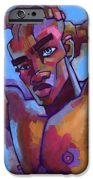 Muscle Paintings iPhone Cases - Life Force iPhone Case by Douglas Simonson