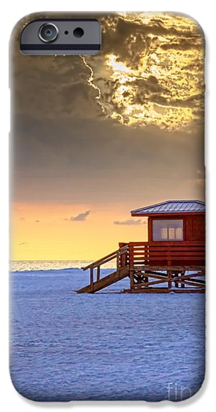 Clouds iPhone Cases - Life Guard 1 iPhone Case by Marvin Spates
