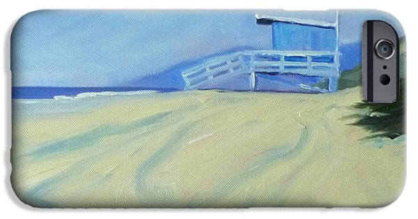 Business Paintings iPhone Cases - Life Guard iPhone Case by Nancy Merkle