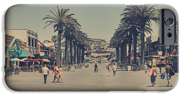 Umbrella Photographs iPhone Cases - Life in a Beach Town iPhone Case by Laurie Search