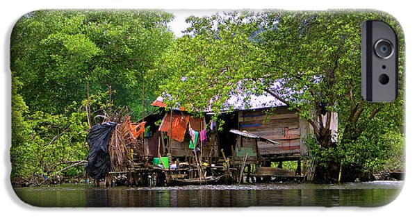 Clapboard House iPhone Cases - Life In Bocas Del Toro - Panama iPhone Case by Al Bourassa