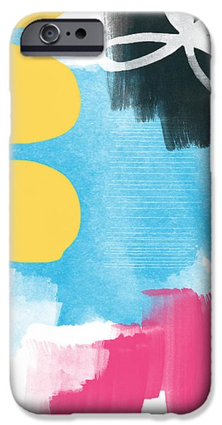 Original Mixed Media iPhone Cases - Life Is A Celebration-Abstract Art iPhone Case by Linda Woods