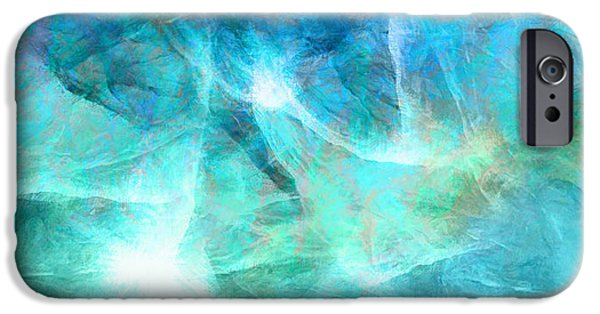 Digital Abstract Art iPhone Cases - Life Is A Gift - Abstract Art iPhone Case by Jaison Cianelli