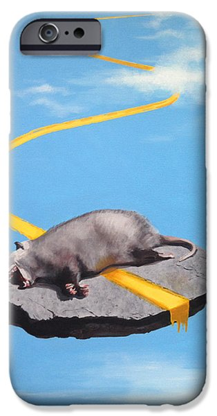 Asphalt Paintings iPhone Cases - Life Is A Highway iPhone Case by Jeffrey Bess