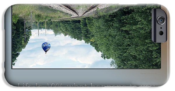 Hot Air Balloon Mixed Media iPhone Cases - Life Is A Illusion iPhone Case by Thomas Woolworth