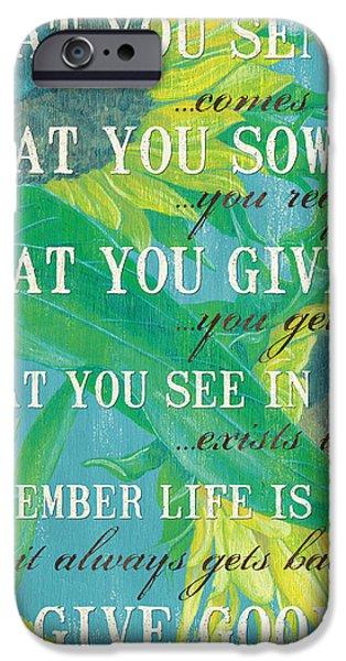 Life is an Echo iPhone Case by Debbie DeWitt