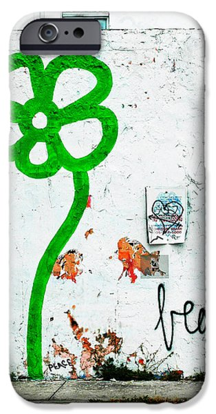 Shower Curtain iPhone Cases - Life is Beautiful Urban Graffiti Wall iPhone Case by ArtyZen Home