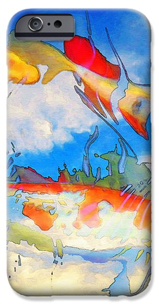 Life Is But A Dream - Koi Fish Art iPhone Case by Sharon Cummings